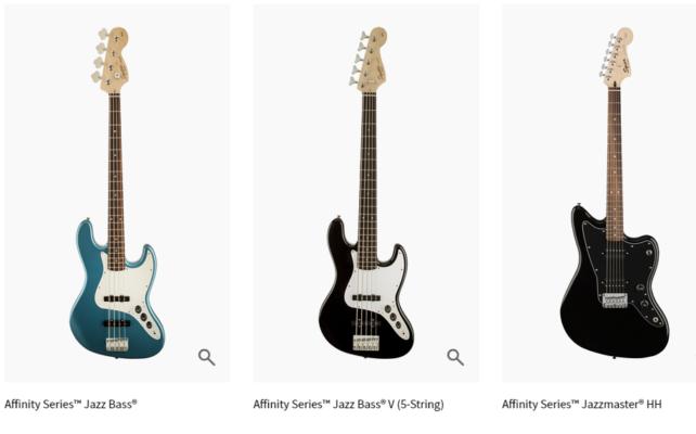 Squier Affinity Series - đàn guitar điện cho người mới học