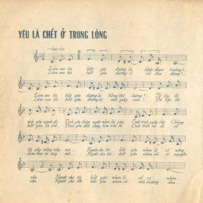 Sheet nhạc bài hát yêu là chết ở trong lòng 1