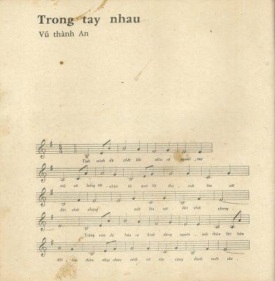 Sheet nhạc bài hát trong tay nhau 1
